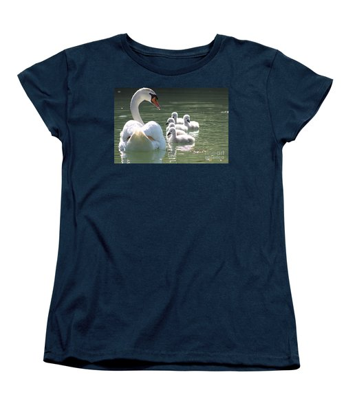 Women's T-Shirt (Standard Cut) featuring the photograph Swans  by Rogerio Mariani