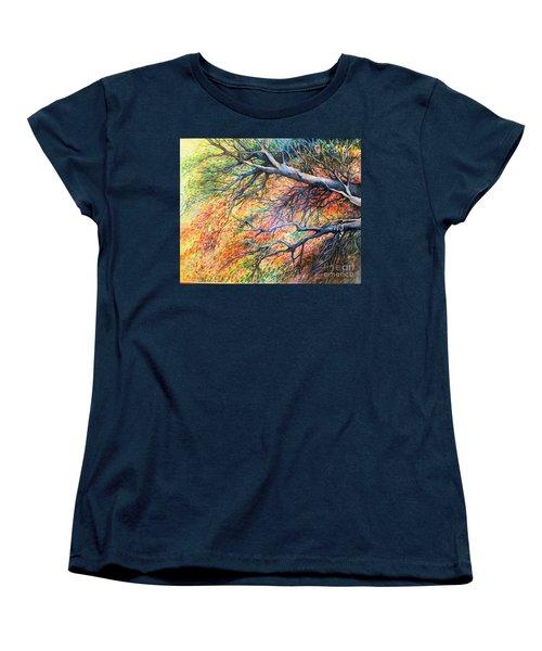 Sway Dancing Trees Women's T-Shirt (Standard Cut) by Linda Shackelford