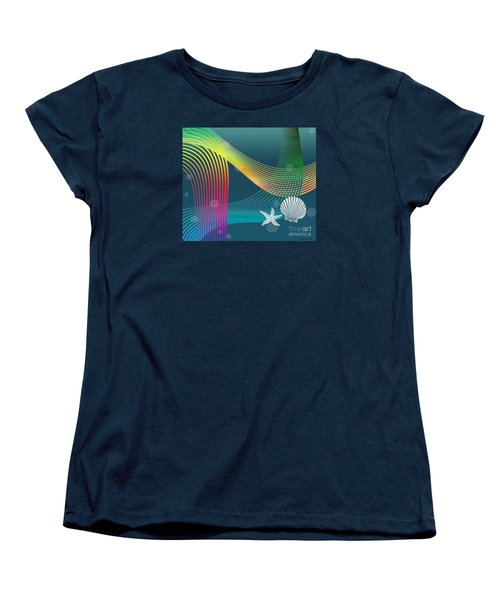 Women's T-Shirt (Standard Cut) featuring the digital art Sweet Dreams2 Abstract by Megan Dirsa-DuBois