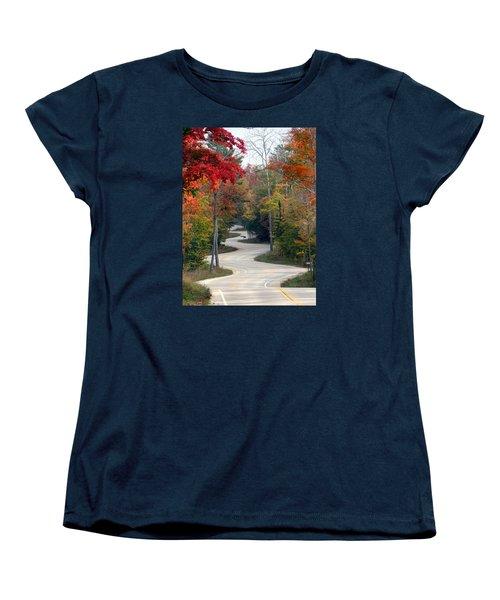 Swervy Road At North Port Women's T-Shirt (Standard Cut) by David T Wilkinson