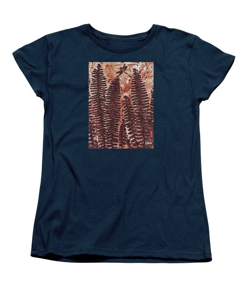 Sword Fern Fossil Women's T-Shirt (Standard Cut) by Katherine Young-Beck