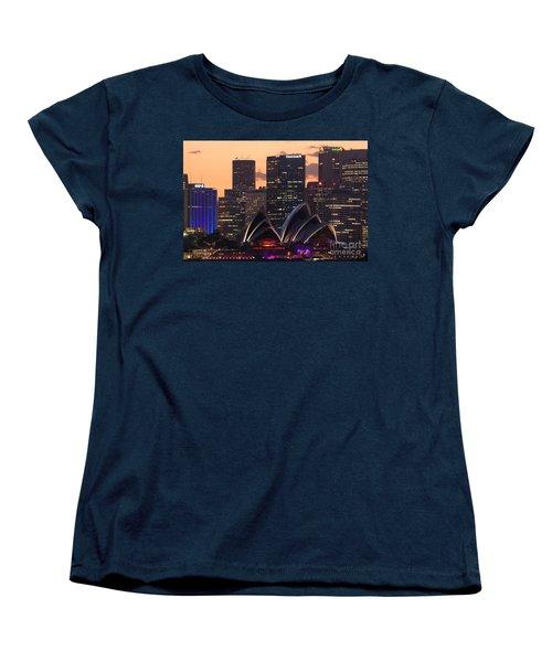 Sydney At Sunset Women's T-Shirt (Standard Cut) by Matteo Colombo