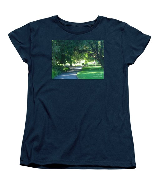 Women's T-Shirt (Standard Cut) featuring the photograph Sydney Botanical Gardens Walk by Leanne Seymour