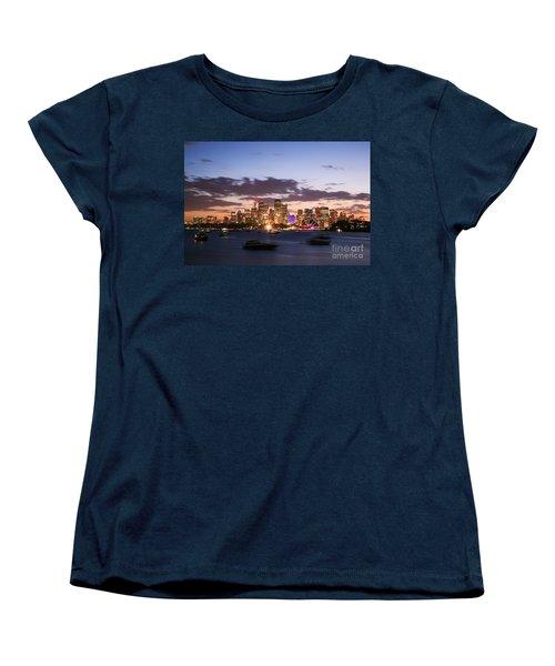 Sydney Skyline At Dusk Australia Women's T-Shirt (Standard Cut) by Matteo Colombo