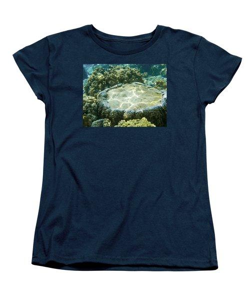 Table Top Coral Women's T-Shirt (Standard Cut) by Denise Bird