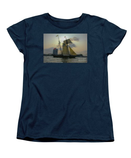 Women's T-Shirt (Standard Cut) featuring the photograph Tall Ship In Charleston by Dale Powell