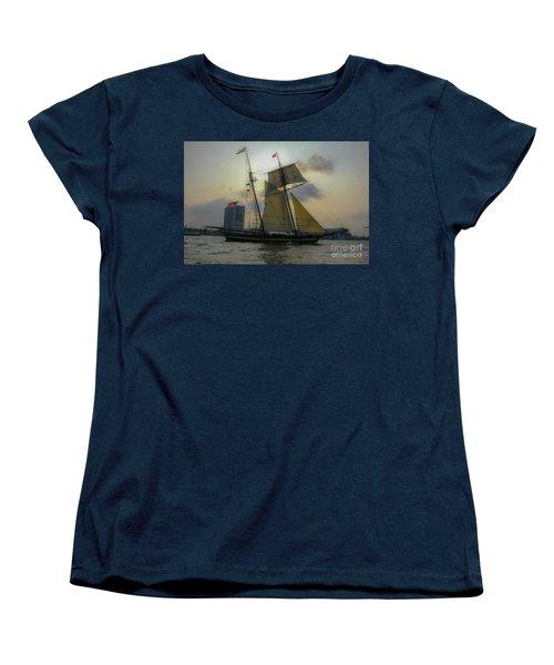 Tall Ship In Charleston Women's T-Shirt (Standard Cut) by Dale Powell