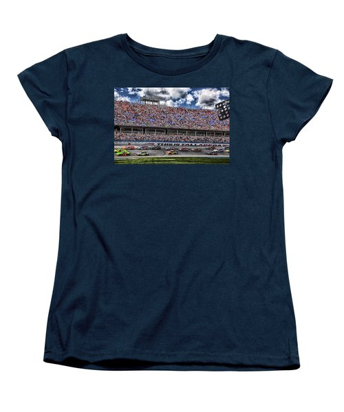 Talladega Superspeedway In Alabama Women's T-Shirt (Standard Cut) by Mountain Dreams
