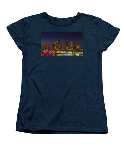 Tampa Lights At Dusk Women's T-Shirt (Standard Cut) by Marvin Spates