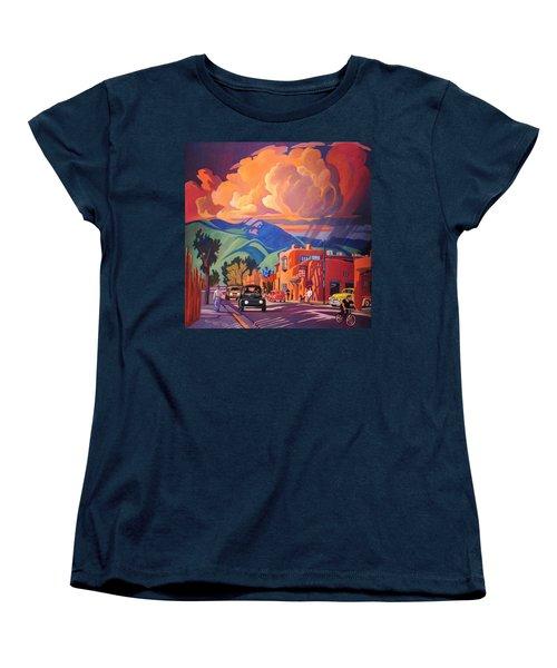 Women's T-Shirt (Standard Cut) featuring the painting Taos Inn Monsoon by Art James West