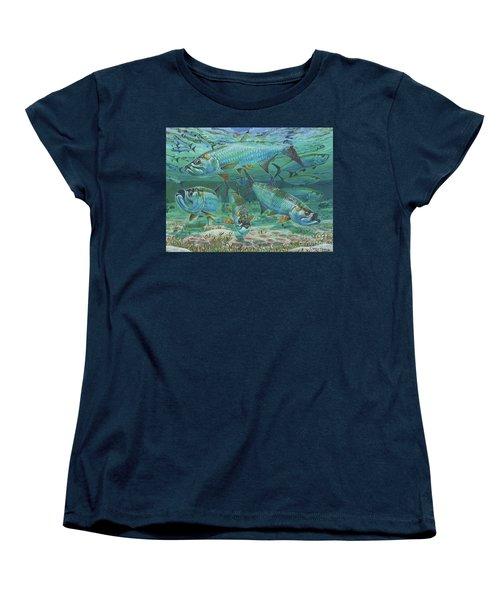Tarpon Rolling In0025 Women's T-Shirt (Standard Cut) by Carey Chen