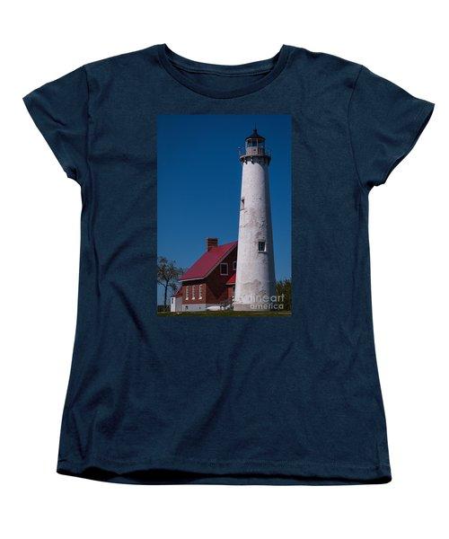 Women's T-Shirt (Standard Cut) featuring the photograph Tawas Point Lighthouse by Patrick Shupert