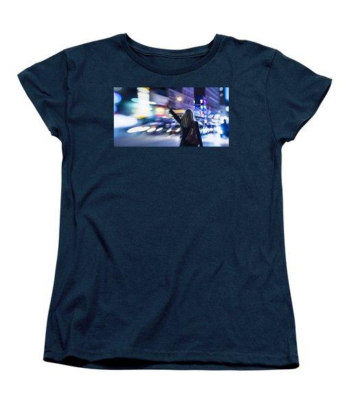 Taxi's Hunting In Manhattan Women's T-Shirt (Standard Cut)