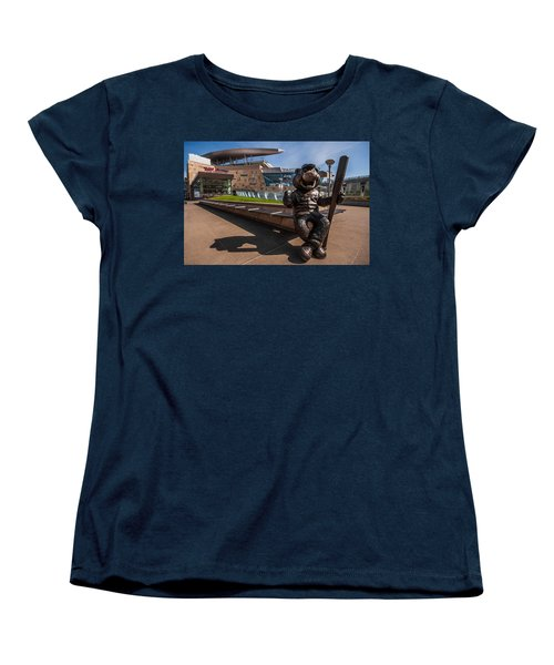 T.c. Statue And Target Field Women's T-Shirt (Standard Cut) by Tom Gort