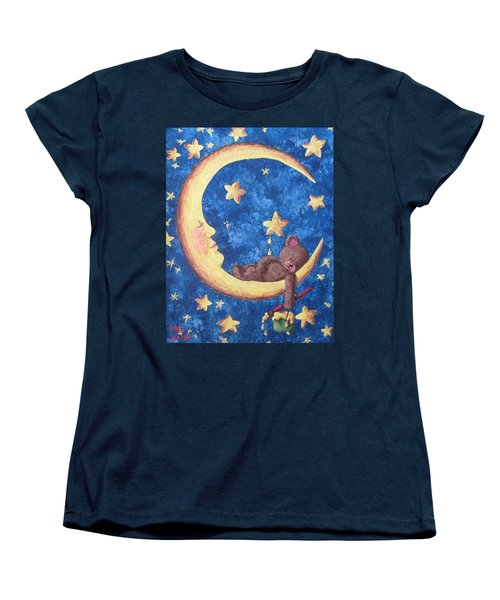 Women's T-Shirt (Standard Cut) featuring the painting Teddy Bear Dreams by Megan Walsh