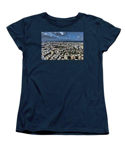 Women's T-Shirt (Standard Cut) featuring the photograph Tel Aviv Center by Ron Shoshani