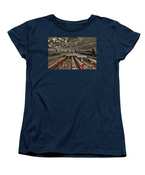 Tel Aviv Central Railway Station Women's T-Shirt (Standard Cut) by Ron Shoshani