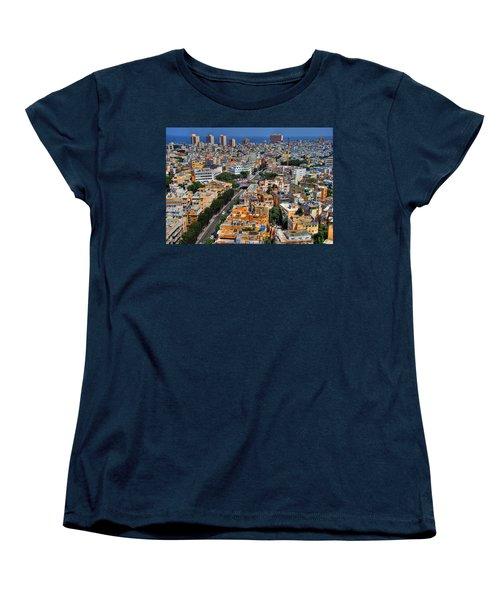 Tel Aviv Eagle Eye View Women's T-Shirt (Standard Cut) by Ron Shoshani