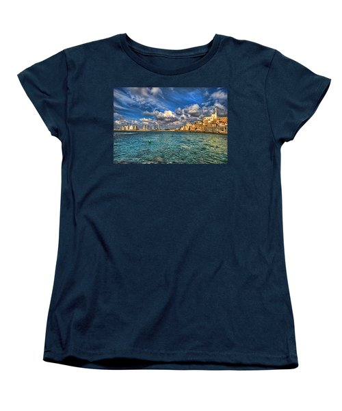 Tel Aviv Jaffa Shoreline Women's T-Shirt (Standard Cut) by Ron Shoshani