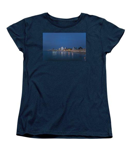 Tel Aviv The Blue Hour Women's T-Shirt (Standard Cut) by Ron Shoshani