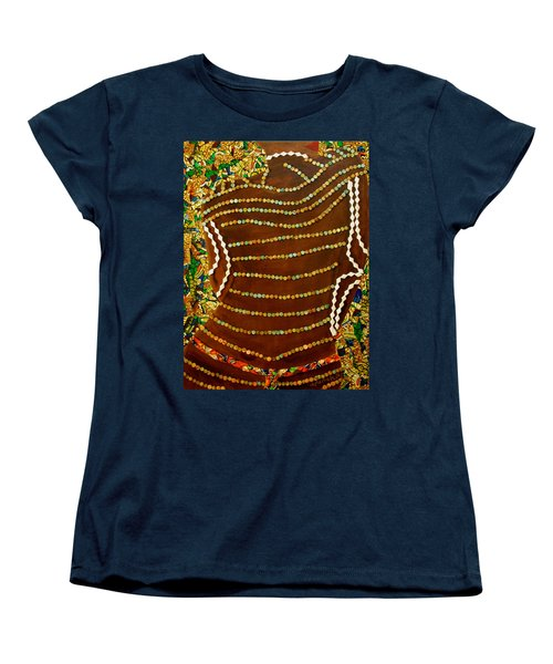 Women's T-Shirt (Standard Cut) featuring the tapestry - textile Temple Of The Goddess Eye Vol 2 by Apanaki Temitayo M