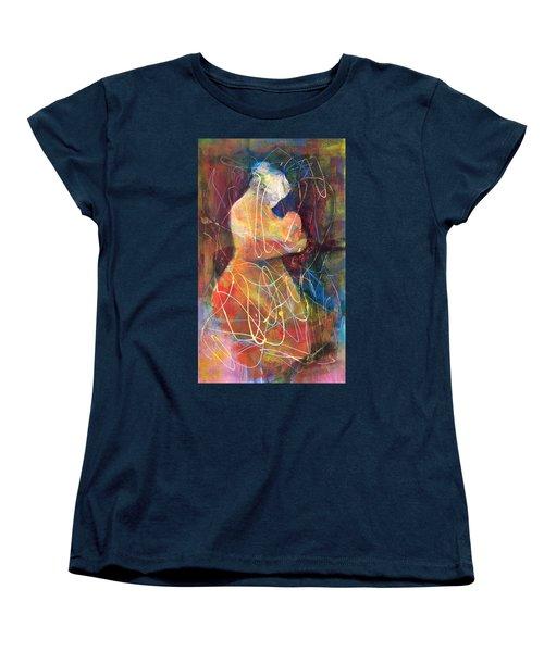 Tender Moment Women's T-Shirt (Standard Cut) by Marilyn Jacobson
