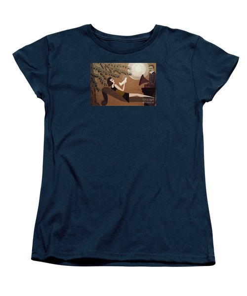 Tesla And White Dove Women's T-Shirt (Standard Cut) by Jasna Gopic
