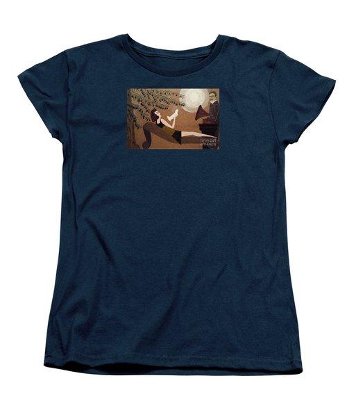 Tesla And White Dove Women's T-Shirt (Standard Cut)