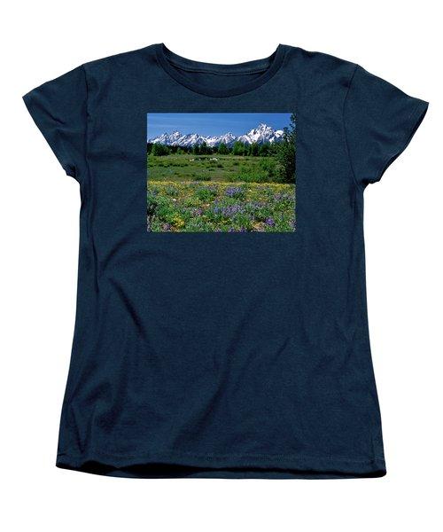 Teton Grandeur Women's T-Shirt (Standard Cut) by Ed  Riche