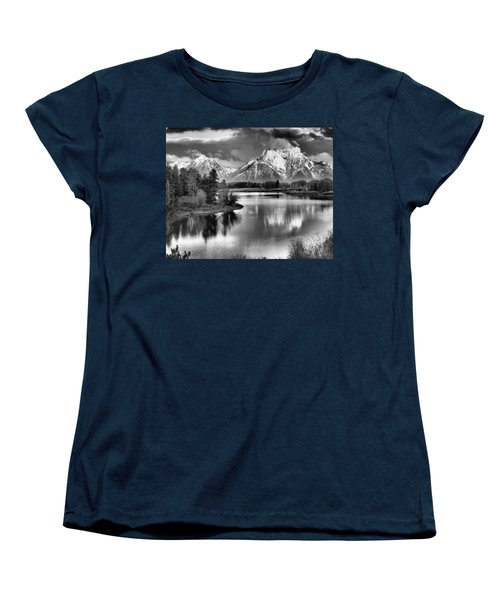 Tetons In Black And White Women's T-Shirt (Standard Fit)