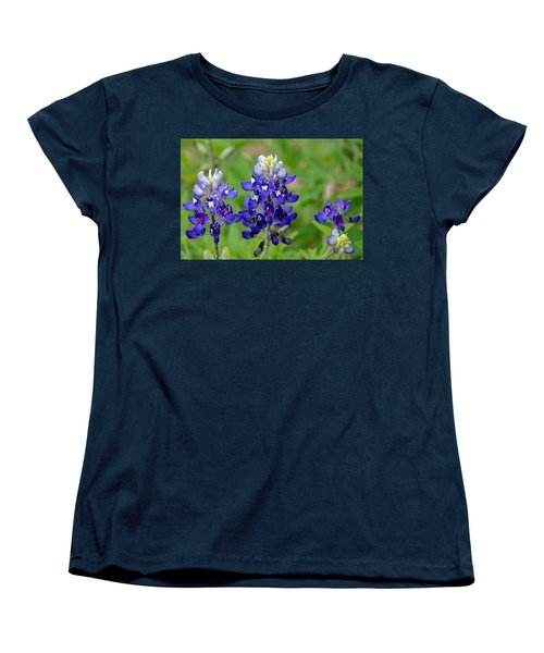 Women's T-Shirt (Standard Cut) featuring the photograph Texas Bluebonnets by Debra Martz