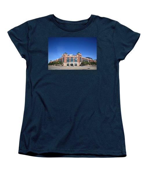 Texas Rangers Ballpark In Arlington Women's T-Shirt (Standard Cut) by Frank Romeo