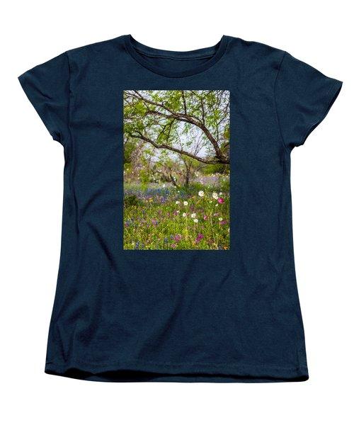 Texas Roadside Wildflowers 732 Women's T-Shirt (Standard Cut) by Melinda Ledsome