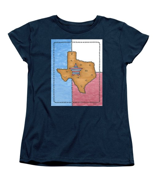 Texas Tried And True Red White And Blue Star Women's T-Shirt (Standard Cut) by Susie Weber