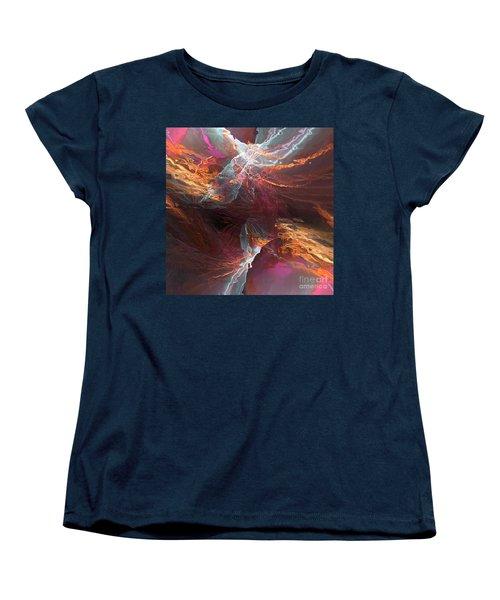 Women's T-Shirt (Standard Cut) featuring the digital art Texture Splash by Margie Chapman