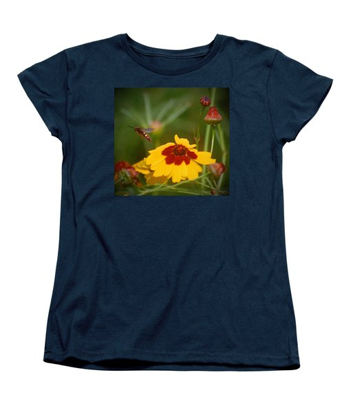 Women's T-Shirt (Standard Cut) featuring the photograph Textured Bee by Leticia Latocki