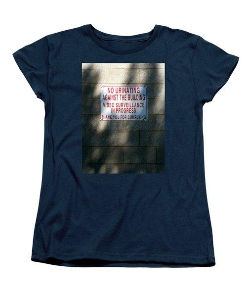 Thank You For Complying Women's T-Shirt (Standard Cut) by Lon Casler Bixby