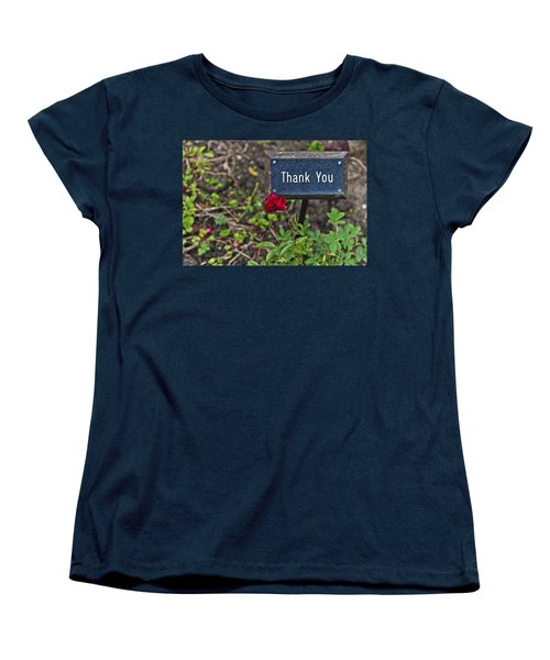 Thank You Women's T-Shirt (Standard Cut) by Maj Seda