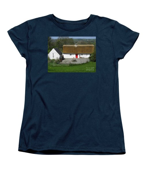 Thatched Cottage Women's T-Shirt (Standard Cut) by Suzanne Oesterling