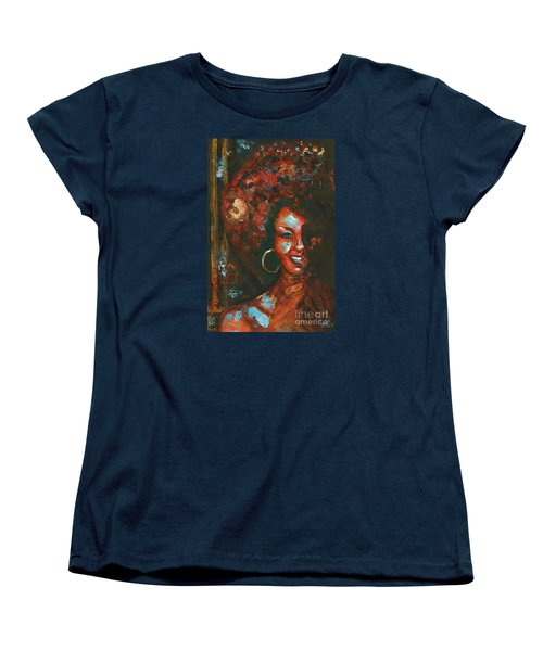 Women's T-Shirt (Standard Cut) featuring the painting The 70s Were The Best by Alga Washington