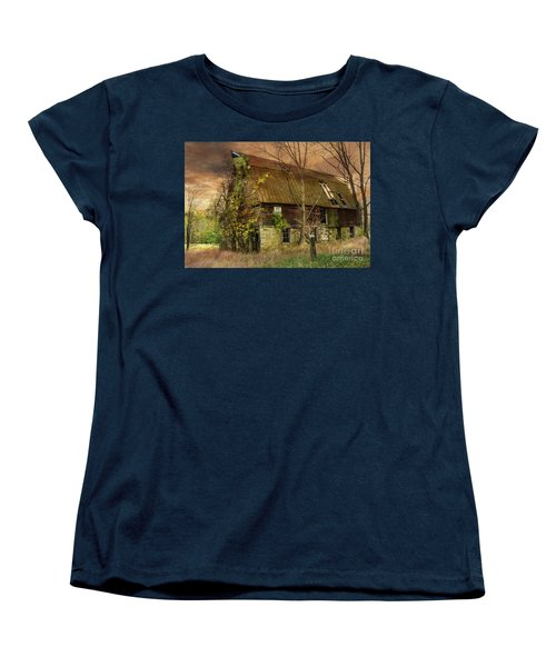 The Abandoned Barn Women's T-Shirt (Standard Cut) by Debra Fedchin