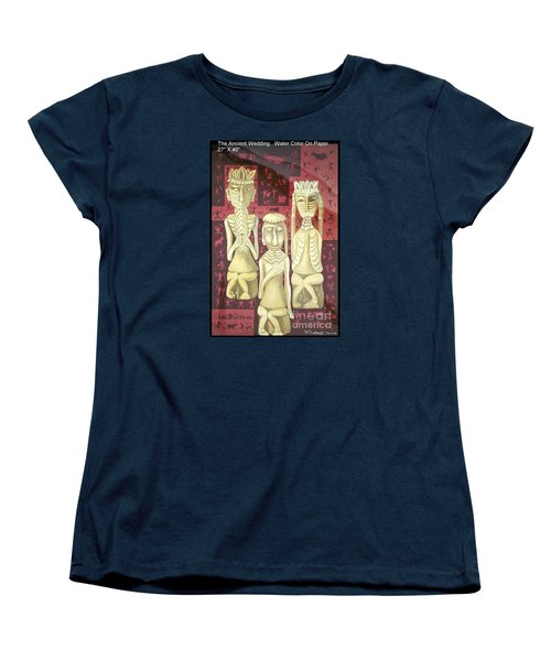 Women's T-Shirt (Standard Cut) featuring the painting The Ancient Wedding by Fei A