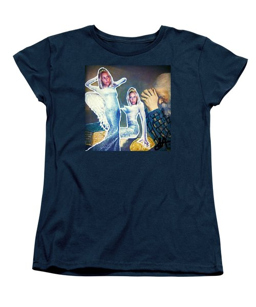 Women's T-Shirt (Standard Cut) featuring the painting The Angels Of Nothing by Lisa Piper