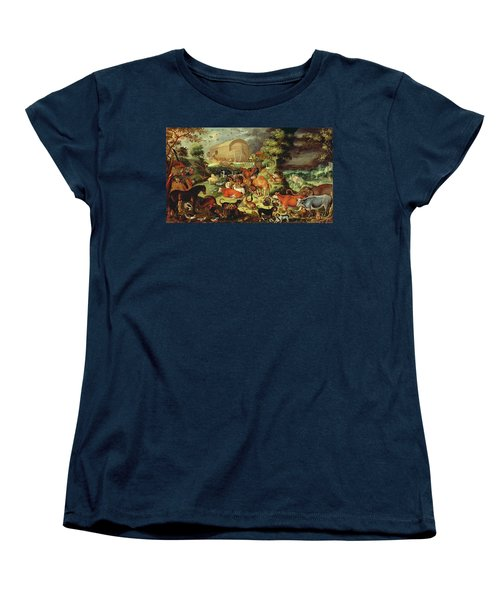 The Animals Entering The Ark Women's T-Shirt (Standard Cut) by Jacob II Savery