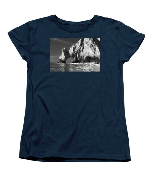 The Arch Cabo San Lucas In Black And White Women's T-Shirt (Standard Cut) by Sebastian Musial