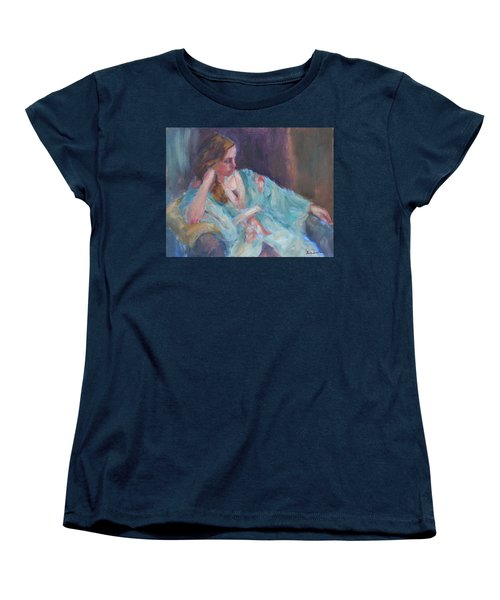 Inner Light - Original Impressionist Painting Women's T-Shirt (Standard Cut) by Quin Sweetman
