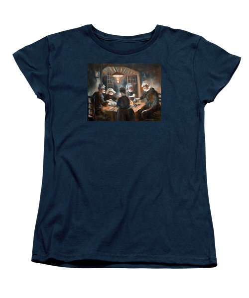 Women's T-Shirt (Standard Cut) featuring the painting Tater Eatin by Randol Burns