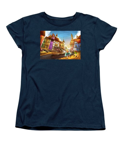 The Bavarian Village Women's T-Shirt (Standard Cut) by Reynold Jay