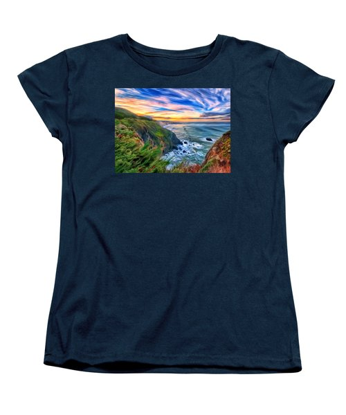 The Beauty Of Big Sur Women's T-Shirt (Standard Cut) by Michael Pickett