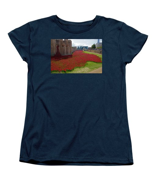 The Bloody Tower Women's T-Shirt (Standard Cut) by Ron Harpham